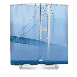 Sailing In The Fog Shower Curtain