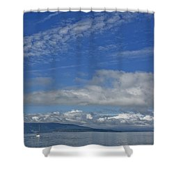 Sailing In The San Juan Islands Shower Curtain by Elvira Butler
