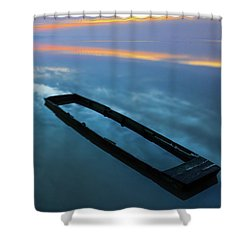 Sailing In The Sky Shower Curtain
