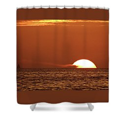 Sailing In The Sunset Shower Curtain