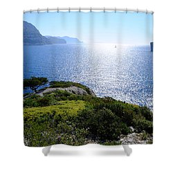 Sailing In The Vastness Shower Curtain