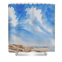 Fine Coastal Cruising Shower Curtain