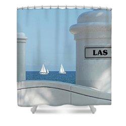 Sailing Las Olas Shower Curtain