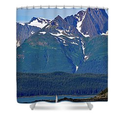 Sailing Lynn Canal Shower Curtain