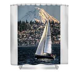 Sailing On Elliot Bay, Seattle, Wa Shower Curtain