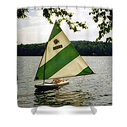 Sailing On Lake Dunmore No. 1 Shower Curtain