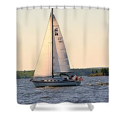 Sailing On Lake Murray Sc Shower Curtain