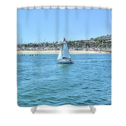 Sailing Out Of The Harbor Shower Curtain