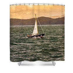 Sailing Outer Hebrides Shower Curtain