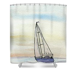 Sailing Shower Curtain by R Kyllo