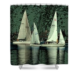 Shower Curtain featuring the photograph Sailing Reflections by David Patterson