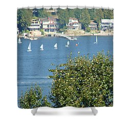 Sailing Shower Curtain by Rod Jellison