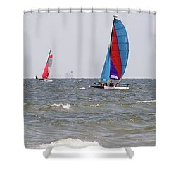 Shower Curtain featuring the photograph Sailing Sailing by Jimmie Bartlett