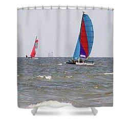 Sailing Sailing Shower Curtain