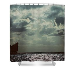 Sailing Shower Curtain by Scott Meyer