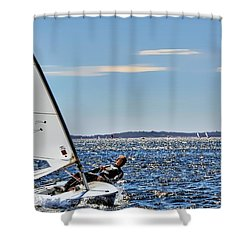 Sailing Ship  In Marseille Shower Curtain