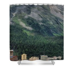 Sailing St Moritz Shower Curtain by Jeff Kolker