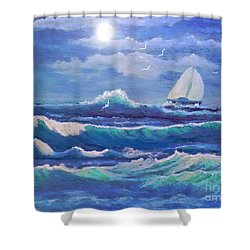 Sailing The Caribbean Shower Curtain