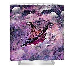 Sailing The Heavens Shower Curtain by Rachel Christine Nowicki