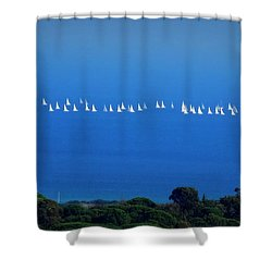 Sailing The Sea And Sky Shower Curtain