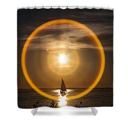 Sailing Through The Iris Shower Curtain