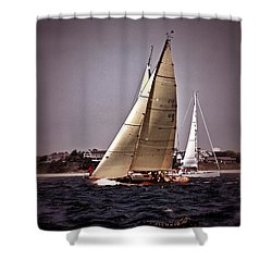 Sailing To Nantucket 005 Shower Curtain