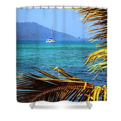 Shower Curtain featuring the photograph Sailing Vacation by Alexey Stiop