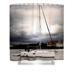 Sailor And Storm Shower Curtain
