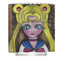Sailor Moon Shower Curtain by Abril Andrade Griffith