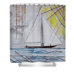 Sailors Delight Shower Curtain by J R Seymour