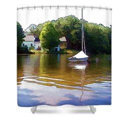 Shower Curtain featuring the photograph Sailor's Rest by Betsy Zimmerli