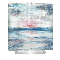 Shower Curtain featuring the painting Sailors Warning by Reed Novotny