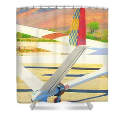 Sailplanes Abstract Shower Curtain