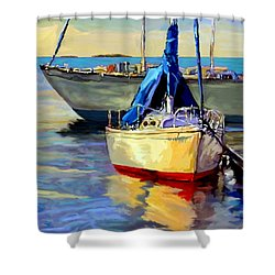 Sails At Rest Shower Curtain