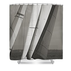 Sails Of A Sailboat Sailing Shower Curtain