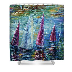 Sails To-night Shower Curtain