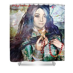 Shower Curtain featuring the painting Saint Agnes Le Thi Thanh by Suzanne Silvir