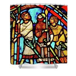 Saint And Sinner Shower Curtain