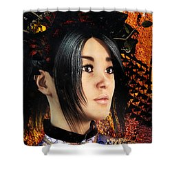 Shower Curtain featuring the painting Saint Anna Of China by Suzanne Silvir