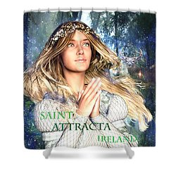 Saint Attracta Irish Light Shower Curtain by Suzanne Silvir