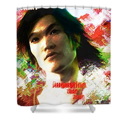 Shower Curtain featuring the digital art Saint Augustine Of China by Suzanne Silvir