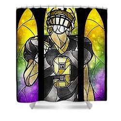 Saint Brees Shower Curtain