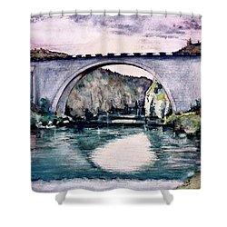 Saint Bridge Shower Curtain by Geni Gorani
