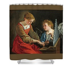 Saint Cecilia And An Angel Shower Curtain