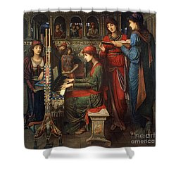 Saint Cecilia Shower Curtain by John Melhuish Strudwick