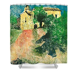 Shower Curtain featuring the painting Saint Donat Provence by Martin Stankewitz
