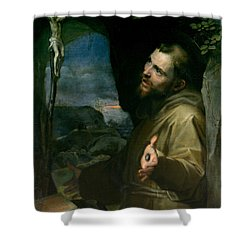 Shower Curtain featuring the painting Saint Francis by Federico Barocci