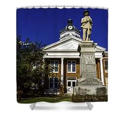 Saint Francisvile Courthouse Shower Curtain by Ken Frischkorn