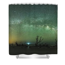 Saint Helena Island Milky Way Shower Curtain by Robert Loe
