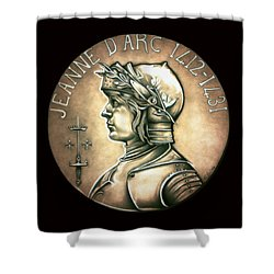 Saint Joan Of Arc Shower Curtain by Fred Larucci